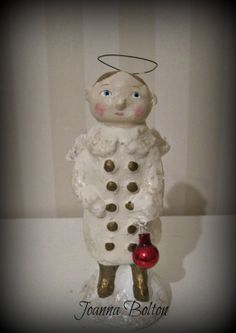 Angel folk art papier mache art doll OOAK by Joannabolton on Etsy, $47.00