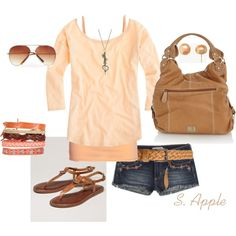 Peach, created by sapple324 on Polyvore