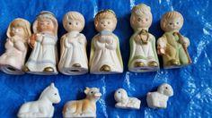 10 piece bisque porcelain nativity figurines homco animals sheep