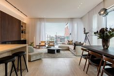 Architecture & interior design of a penthouse in Antwerp. Photography by Patricia Goijens. Art Of Living, Living Spaces, Livng Room, Urban Ideas, Casa Cook, Interior Architecture, Interior Design, Antwerp, Bars For Home