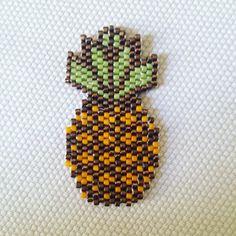 miyuki brick stitch ananas