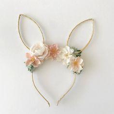 the daydream republic — Easter Bunny Ears Headband, Diy Headband, Headbands, 1 Year Old Birthday Party, Bunny Birthday, First Birthday Decorations, Girl Birthday Themes, Bunny Party, Easter Party