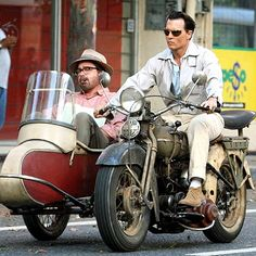 ROAD WARRIOR  He really gets around! After navigating the streets in a vintage car, Johnny Depp revs up his motorcycle while filming The Rum Diary with costar Michael Rispoli in San Juan, Puerto Rico, on Thursday. Credit: Fame Pictures  Published: Friday Apr 17, 2009 | 05:00 PM EDT