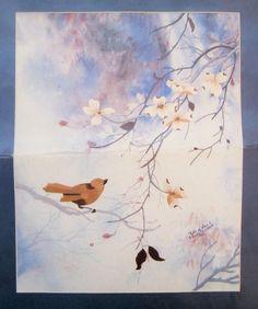 Elsa Williams Crewel Stitchery Kit Falls Of Love Needle Art Bird Started 00340 #NeedleArts