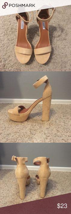 Cape Robbin Tan High Heel Platforms 4 inch heels, never worn!! Cape Robbin Shoes Heels