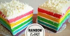 Resep Rainbow Cake Kukus Ny.Liem 😋 favorit. Baru pertama kali bikin rainbow cake, gara2 mupeng liat rainbow cake di toko kue.. Buka cookpad nemu resepnya teh kheyla.. Di jamin anti gagal, slalu cocok 😋😋 meskipun agak ribet bikinnya tp kalo hasilnya memuaskan sih jd ga kapok 😍