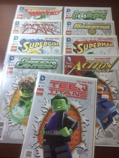 from $25.99 - Dc #Comics Mixed Lego Variant Set Justice League Superman Supergirl Action #Comics