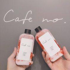 Milk Packaging, Beverage Packaging, Coffee Packaging, Bottle Packaging, Strawberry Drinks, Strawberry Milk, Peach Aesthetic, Aesthetic Food, Cafe Menu