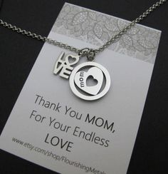 50th Birthday Gift For Mum Gifts Mom From Daughter Necklace Mothers Day Jewelry Thank You MOM
