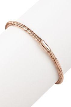 Rose Gold Mesh Stretch Bracelet  by Savvy Cie on @HauteLook