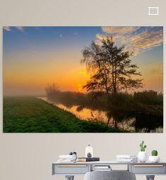 Kleurrijke zonsopgang in de Schermer Polder Canvas, Wall, Prints, Tela, Canvases, Walls