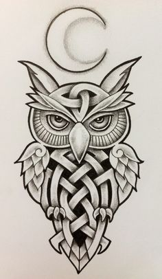 15 Popular Celtic Tattoo Designs and Meanings Do you believe in the importance of Celtic tattoos? Why not get them etched on your body? In this article, we have compiled some of the best Celtic tattoo designs with detailed explanation. Owl Tattoo Design, Tribal Tattoo Designs, Tattoo Designs And Meanings, Tribal Owl Tattoos, Irish Symbols And Meanings, Geometric Tattoos, Tattoo Painting, Tatoo Art, Tattoo Drawings
