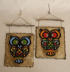 Maknue Arte Patagónico Paper Mache Crafts, Clay Crafts, Diy And Crafts, Clay Wall Art, Clay Art, Papercrete, Paper Mache Sculpture, Clay Tiles, Mandala Painting