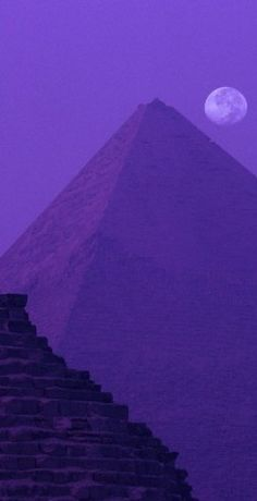 Moon and Great Pyramid of Khafre – who knew Egypt could be so purple?  #MACxNastyGal