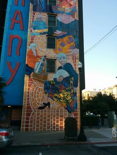 #Mural on senior home in The Mission Neighborhood of San Francisco.