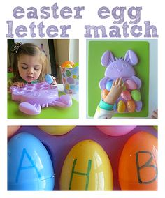 Easter Egg Letter Match – Alphabet For Starters - Pinned by @PediaStaff – Please Visit  ht.ly/63sNt for all our pediatric therapy pins