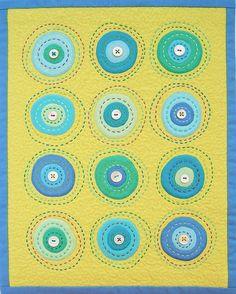 circle love. Like the big stitch quilting Bella solids @ModaFabrics