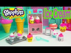 Shopkins Season 3 Playset Cool & Creamy Collection Food Fair Exclusive Ice Cream Toy Video Unboxing - YouTube
