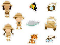 Safari Party, Safari Theme, Emoji Cupcake Toppers, Safari Cakes, Jungle Art, Printable Animals, Baby Sewing Projects, Animal Birthday, Safari Animals