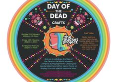 Poster for our Day of the Dead Craft events next week at the World Museum Liverpool.