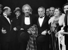 Albert Einstein, Charles Chaplin and Elsa Einstein at the premiere of City Lights in 1931 : OldSchoolCelebs