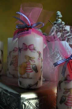 Decoupage, Gift Wrapping, Gifts, Easter Candle, Wrap Around, Diy Gifts, Simple Diy, Hobbies, Candles