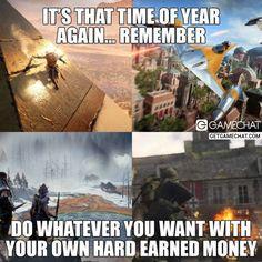 Remember its that time of the year #Gaming #AssassinsCreedOrigins #StarWarsBattlefrontII #CallOfDutyWWII #HorizonZeroDawn