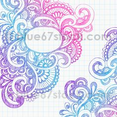 Abstract Hand-Drawn Sketchy Doodle Vector Illustration by blue67design, via Flickr