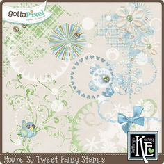 You're So Tweet Fancy Stamps :: Gotta Pixel Digital Scrapbook Store by Kathryn Estry  $2.99