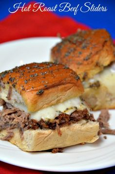 Hot Roast Beef Sliders - These Hot Roast Beef Sliders were made using my leftover slow cooker roast beef.  It is truly an easy and fantastic way to use your leftover roast beef.#roast beef #sliders #roast beef sliders