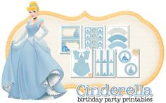 Cinderella Birthday Party  free! and they some for all the other princesses including brave