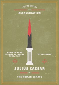 Evan Stremke : Invitation to Assassination // Julius Caesar