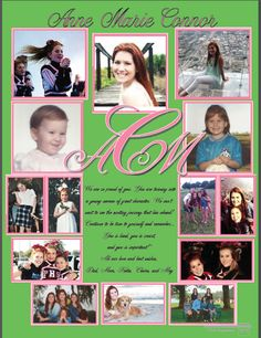 2015 Full page ad. Yearbook staff design. LARGE MONOGRAM