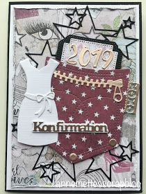Pocket Cards, Prima Marketing, Stencil, Tim Holtz, Birthday Cards, Projects To Try, Invitations, Elephant, Punch