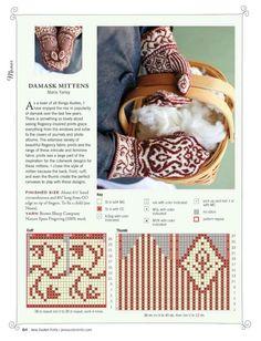 Knitting Charts, Knitting Stitches, Free Knitting, Knitting Socks, Knitting Patterns, Stitch Patterns, Mittens Pattern, Knit Mittens, Knitted Gloves