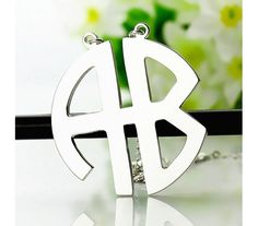 Personailzed Sterling Silver Two Initial Necklace