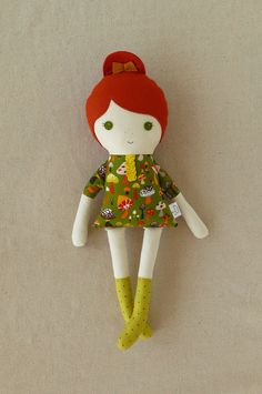 doll, freckles   roving ovine, etsy