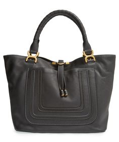 All of the stylish essentials are going in this soft and sophisticated Chloé leather tote.