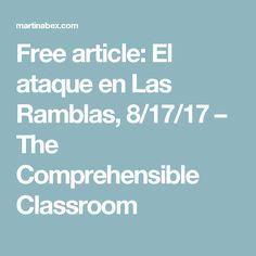 Free article: El ataque en Las Ramblas, 8/17/17 – The Comprehensible Classroom