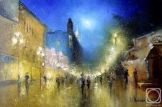 Arbat Night Lights Metal Print by Igor Medvedev. All metal prints are professionally printed, packaged, and shipped within 3 - 4 business days and delivered ready-to-hang on your wall. Choose from multiple sizes and mounting options. Art Prints For Home, Home Art, Light Painting, City Painting, Painting Canvas, Abstract Paintings, Art Folder, New Wave, Artist At Work