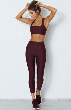 The Holly Leggings Merlot. Head online and shop this season's latest styles at White Fox. Express delivery and AfterPay available. Womens Workout Outfits, Sporty Outfits, Cute Outfits, Gym Outfits, Workout Women, Fitness Outfits, Athletic Outfits, Ab Workout At Home, Bum Workout