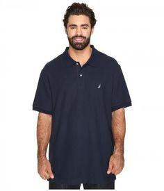 Nautica Big & Tall - Big Tall Anchor Solid Deck Shirt (Navy) Men's Short Sleeve Pullover