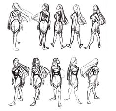 Pocahontas turnaround sheet by Glen Keane ★ || Art of Walt Disney Animation Studios © - Website | (www.disneyanimation.com) • Please support the artists and studios featured here by buying this and other artworks in the official online stores (www.disneystore.com) • Find more artists at www.facebook.com/CharacterDesignReferences and www.pinterest.com/characterdesigh || ★