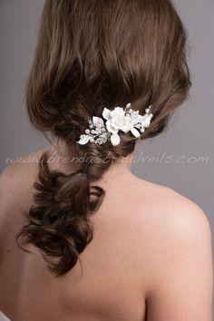 Peigne à cheveux de mariage Bridal peigne par brendasbridalveils