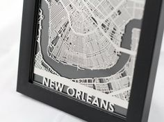 Stainless Steel New Orleans Louisiana Cut Map by CutMaps on Etsy, $30.00