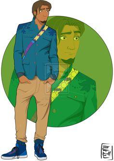 21 More Disney Characters As Modern College Students - 21.  Eugene Fitzherbert - Tangled - Link: http://hyung86.deviantart.com/art/Disney-University-Flynn-396742470?q=gallery%3AHyung86&qo=2