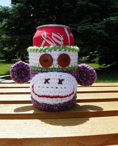 Summer fun and camping are just around the corner. Sock monkey can cozies are a MUST HAVE!! LOL I hope that you have as much fun making these as I did. Hope you all have a blast this summer!!