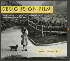 Favorite Christmas gift I received this year. Designs on Film by Cathy Whitlock and The Art Directors Guild. A look back at 100 years of the most memorable film sets in Hollywood.