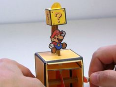 How To Create Your Own Super Mario Papercraft Automaton.ummm Nate maybe? Mario Brothers, Mario Crafts, Geek Crafts, Diy Crafts, Creative Crafts, Kirigami, Super Mario Party, Super Mario Bros, Paper Mario