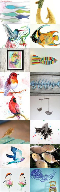 FISH GOT TO SWIM BIRDS GOT TO FLY by Laura on Etsy--Pinned with TreasuryPin.com #buyfromwomen